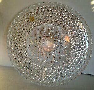 NEW! Vintage CAPRI ITALY Genuine Lead Crystal Over 24% PLB Hand Cut Cake Platter