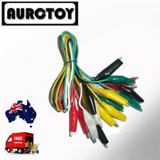 10 X 5 Mixed Color 50CM Test Leads for Power Supply Multimeter Clips alligators