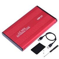 Boîtier externe USB 2.0 SATA HDD 2.5 pouces de disque dur pour PC