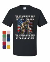 We Stand for the Flag T-Shirt Veteran Military POW MIA Army Navy Tee Shirt