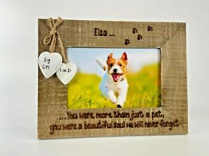 More Than A Pet   Dog Cat Loss Memorial   Personalised Driftwood Photo Frame