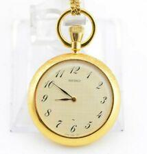 H275 Vintage Seiko Analog Pocket Necklace Mechanical Watch 2220-0580 JDM 50.1
