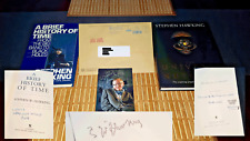 Stephen W. Hawking Autograph Signature Thumb Print Stamp Signed 1st Edition Book