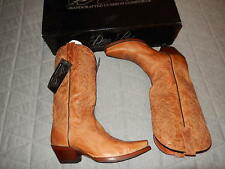 DAN POST  cowboy genuine leather cognac boots 9 NEW tags