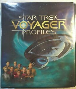 Star Trek Voyager Profiles binder complete base set alien tech promo cards