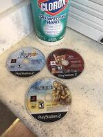 Sony Playstation 2 Disc Only Game Lot Final Fantasy X, X-2 & XII  Fast Ship PS2