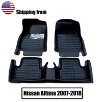For Nissan Altima 2007-2018 Car Floor Mats Front & Rear Liner Waterproof Mat