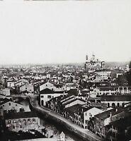 Panorama Da Padova Italia Stereo Lente Ferrier Vintage Ca 1855-60