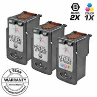 3pk PG-210XL CL-211XL for Canon Black & Color Ink Cartridge iP2702 MP240 MP250