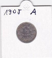 1/2 Mark 1905 a Deutsches Reich 900er Siber