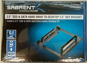 Sabrent 2.5 Inch to 3.5 Inch Internal Hard Disk Drive Mounting Bracket Kit