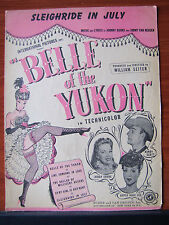 """Sleighride in July from """"Belle of the Yukon"""" -1944 sheet music -Dinah Shore"""