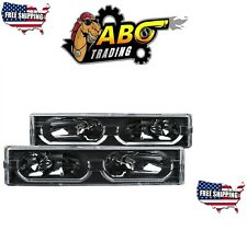 ANZO CRYSTAL HEADLIGHTS w/ LOW-BROW BLACK 88-98 CHEVY/GMC C/K1500/2500 - 111299