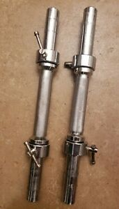 """Mistmatched dumbbell handles Ivanko collars standard size 1"""" Chrome"""
