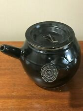 RARE ANTIQUE CHINESE ART POTTERY TEAPOT WITH SLANTED SPOUT
