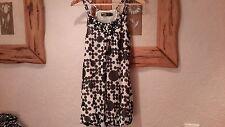 Pussycat Black White Dots  Summer Chiffon Dress Top Size 10