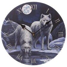 Bilderuhr Winterkrieger Wölfe Lisa Parker 30 cm Wanduhr Uhr Fantasy Wolf Wall Cl