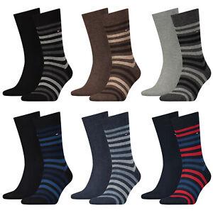 Tommy Hilfiger Men's Socks, Savings Pack - Duo Stripe Sock, Stockings, 39-46