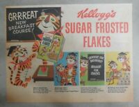 Kellogg's Cereal Ad:Tony The Tiger Great New Breakfast from 1950's 7 x 10 inches