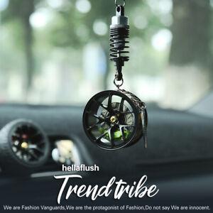 TE37 Style BBS Wheel Rim Mirror Pendent Keychain Aluminum Brake Disc Suspension