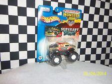 Hot Wheels: Monster Jam, SERGENT SMASH, MONSTER BUS 2 trucks, variations 1:64