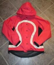 LULULEMON RARE LUVAAL CYCLING/BOARD JACKET SIZE S RED / BLACK SE WATER RESISTANT
