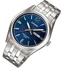 MTP-1335D-2AV MTP1335D Casio Quartz Analog Man's Sports Day Date Blue Dial Watch
