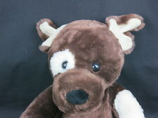 HAPPY CHOCOLATE BROWN PUPPY DOG BUILD A BEAR BEIGE SPOT PLUSH STUFFED ANIMAL TOY