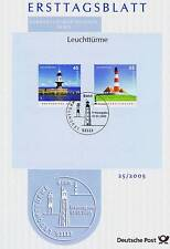 FRG 2005: Lighthouses! First day sheet no. 2473+2474 with Bonner