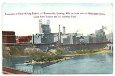 Postcard ~ Panorama of Flour Milling District of Minneapolis  1911