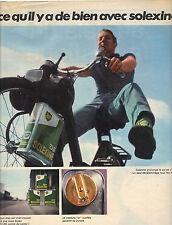 PUBLICITE ADVERTISING   1966    SOLEXINE   huile capsule OR
