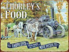 Thorley's Essen,Bauernhof Vintage Traktion Dampflokomotive,Pferde,Klein Metall/