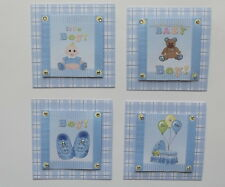 PK 4 BABY BOY EMBELLISHMENT TOPPERS FOR CARDS