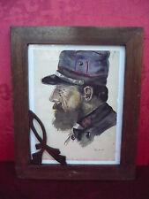Sublime, Vieux Tableau __ Portrait D'un Soldats de Marines__ Beau, Vieux Cadre