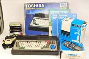 Toshiba MSX 64K Home Computer HX10 with Tape Recorder, Software & Joysticks