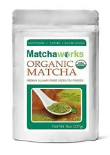 Matchaworks Matcha Green Tea Powder Culinary Grade Raw Organic, 8 Ounce