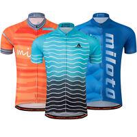 Men's Cycling Wear Tops Reflective Bike Bicycle Cycle Jersey Shirts S-5XL