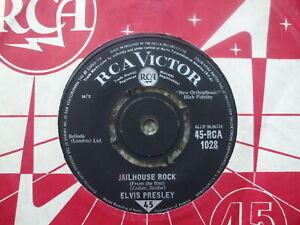 Elvis Presley - Jailhouse Rock / Treat Me Nice - RCA 1028 Rare 1965 reissue