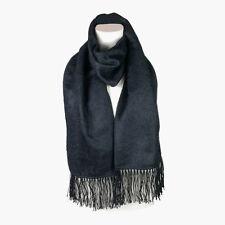Fashionable Black Alpaca Wool Blend Unisex Scarf by INKITA. Chic Style. Winter.