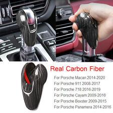 Carbon Fiber Gear Shift Knob Cover For Porsche Macan 14-20 Cayman 09-16 911/718