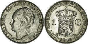 Netherlands East Indies: Gulden silver 1943 D - VF-XF