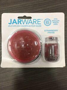 Jarware 82633 Regular Mouth Decorative Jar Lid 4 pk