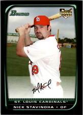 2008 Bowman Draft Baseball #BDP49 Nick Stavinoha RC St. Louis Cardinals