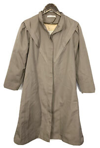 Misty Harbor Taupe Brown Full Length Wool Lined Trench Coat Women's Size 8 .