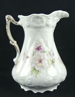 ANTIQUE Large E.P.P.CO. Jefferson E. Palestine Embossed White Pitcher