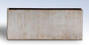 """NATORI Slim Rectangular Antique Silver Foil Lacquered VASE 2.5"""" x 12.5"""""""