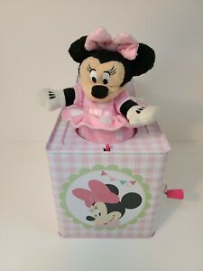 """Disney 2014 Minnie Mouse """"You Are My Sunshine"""" Musical Pop-Up Minnie In A Box"""