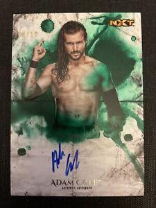 2018 Topps Undisputed WWE ADAM COLE Auto Green #d /50 AEW