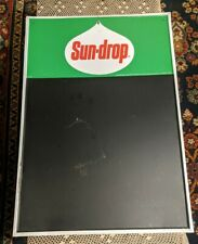 RARE VINTAGE SUN DROP TIN MENU BOARD SIGN