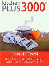 Kitchen Plus 3000 Miracle Hand Food Processor Chopper Slicer